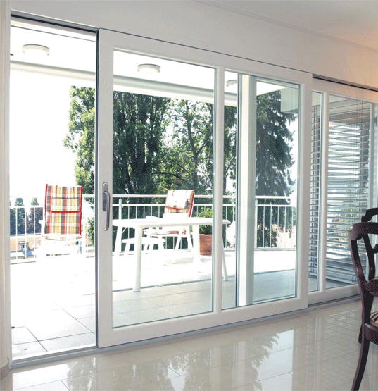 Baie vitr e panneaux coulissants hst arutech - Baie vitree 6 metres ...